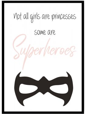 Poster barn superheroes princess