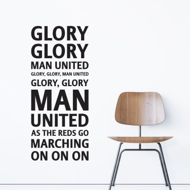 VÄGGORD GLORY GLORY - MAN. UNITED.