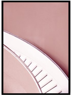 Poster stairs pink
