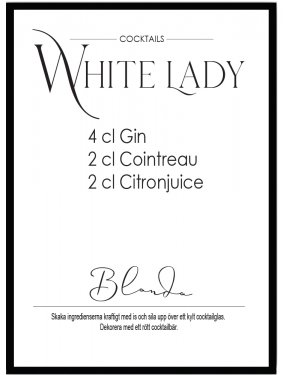 Poster White lady