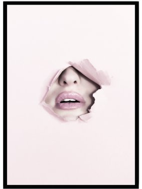 poster fashion lips pink