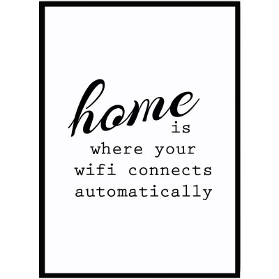 poster home wifi