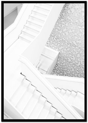 poster stairs white