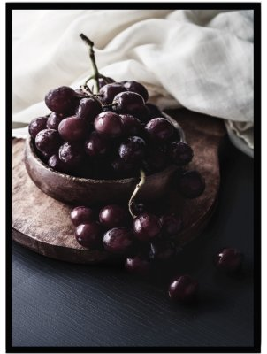 Poster kök grapes